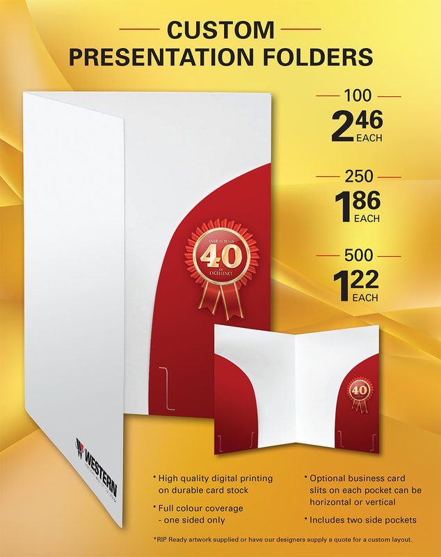 Custom Presentation Folders Promotion Flyer