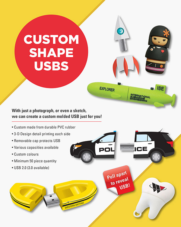 Custom Shape USB Promotional Flyer