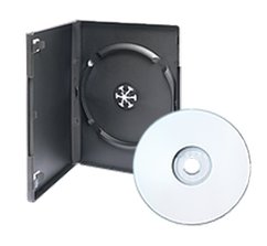 Black DVD Case with Blank Disc