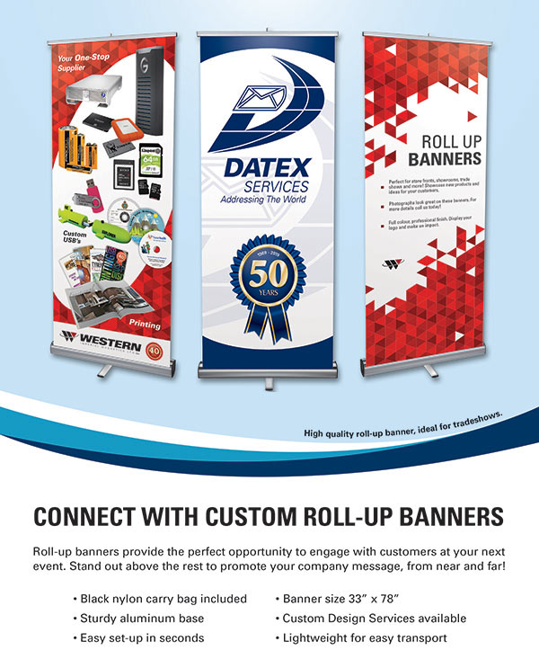 Roll-up Banner Promotional Flyer